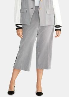 Rachel Rachel Roy Plus Size Striped Cropped Pants