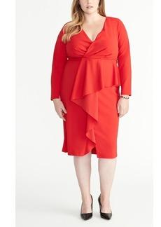 Rachel Rachel Roy Plus Size Wrap Ruffle Front Dress