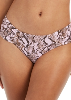Rachel Rachel Roy Python Printed Ruched-Side Bikini Bottoms Women's Swimsuit