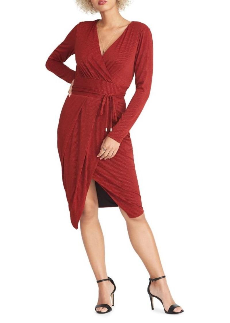 RACHEL Rachel Roy Ribbed Wrap Dress