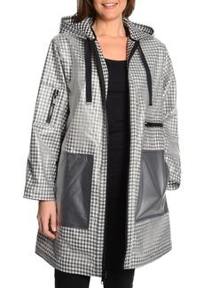RACHEL Rachel Roy Rubberized Gingham Raincoat