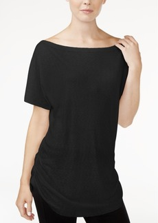 Rachel Rachel Roy Ruched Boat-Neck T-Shirt, Created for Macy's