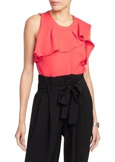 Rachel Roy Collection Ruffle Neck Top