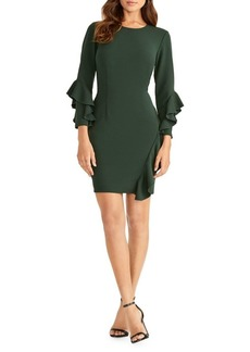 RACHEL Rachel Roy Ruffled Long-Sleeve Sheath Dress