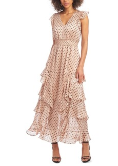 Rachel Rachel Roy Ruffled V-Neck Maxi Dress