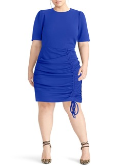 RACHEL Rachel Roy Scuba Crepe Back Minidress (Plus Size)