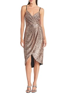 RACHEL Rachel Roy Sequin-Embellished Sheath Dress