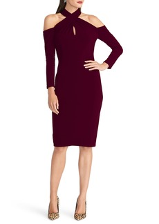 RACHEL Rachel Roy Simone Long Sleeve Twist Neck Cold Shoulder Jersey Dress