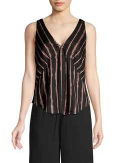 RACHEL Rachel Roy Sleeveless Striped Tank