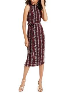 Rachel Rachel Roy Snake-Embossed Midi Dress