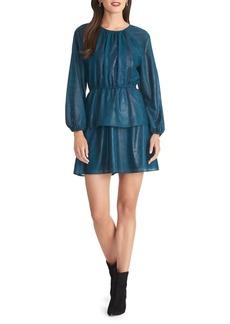 RACHEL Rachel Roy Tiered-Skirt Pleated Mini Dress
