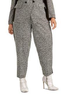 Rachel Rachel Roy Trendy Plus Size Agatha Animal-Print Pants