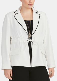 Rachel Rachel Roy Trendy Plus Size Alessandra Drawstring Blazer