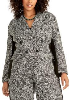 Rachel Rachel Roy Trendy Plus Size Animal-Print Blazer