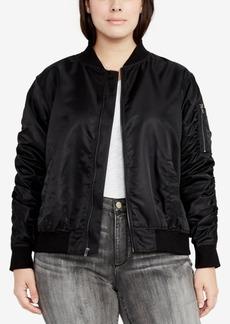 Rachel Rachel Roy Trendy Plus Size Bomber Jacket