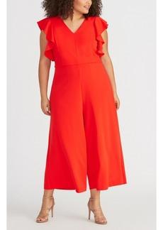 Rachel Rachel Roy Trendy Plus Size Cropped Wide-Leg Jumpsuit