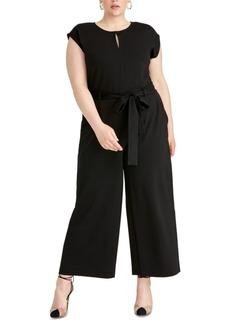 Rachel Rachel Roy Trendy Plus Size Esme Belted Keyhole Jumpsuit