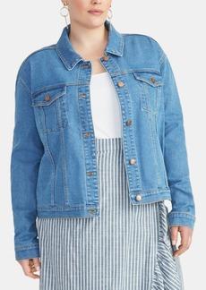 Rachel Rachel Roy Trendy Plus Size Kerrie Denim Jacket