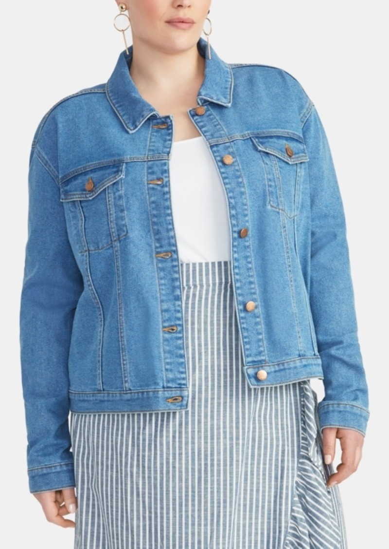 Rachel Rachel Roy Trendy Plus Size Kerrie Denim Jacket