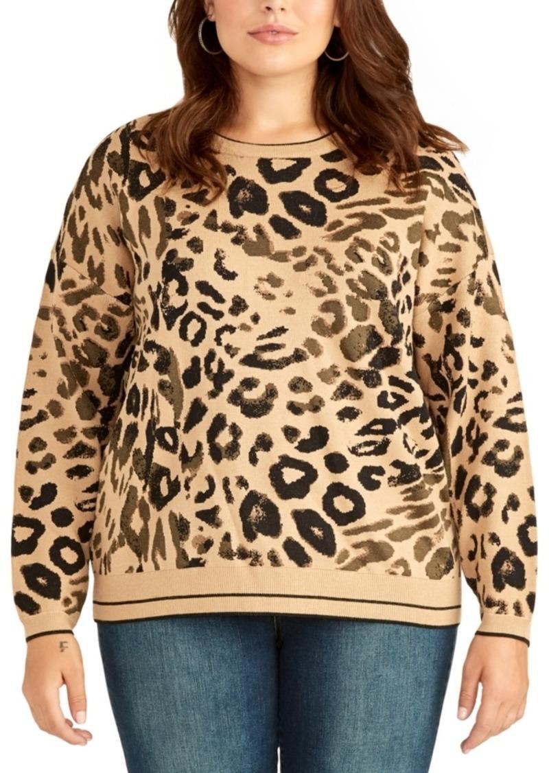 RACHEL Rachel Roy Womens Plus Size Mixed Cable Pullover
