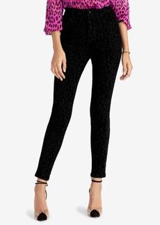 Rachel Rachel Roy Velvet Animal-Print Skinny Leg Pants, Created for Macy's