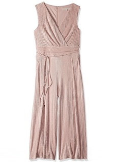 RACHEL Rachel Roy Women's Ambra Jumpsuit Blush with Silver foil