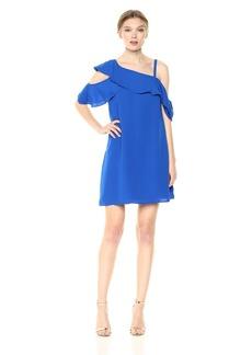 RACHEL Rachel Roy Women's Asymmetrical Ruffle Trapeze Dress