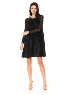 RACHEL Rachel Roy Women's Burnout Velvet Swing Dress  XL