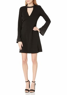 RACHEL Rachel Roy Women's Embellished SLV Fit and Flare