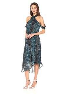 RACHEL Rachel Roy Women's Flowy Cold Shoulder Printed Dress