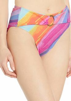 RACHEL Rachel Roy Women's High Waist Ring Swim Bottom  M