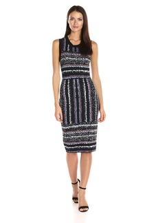 RACHEL Rachel Roy Women's Jacquard Stripe Dress  M