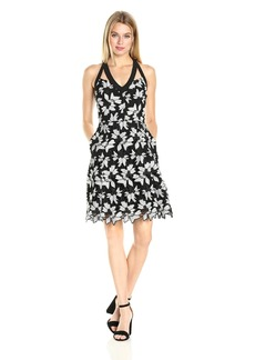 RACHEL Rachel Roy Women's Lace Fit and Flare with Strap Detail