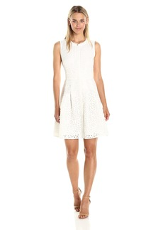 RACHEL Rachel Roy Women's Laser Cut Fit and Flare