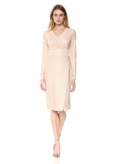 RACHEL Rachel Roy Women's Longsleeve Rib Knit Foil Dress with Tie Waist  S
