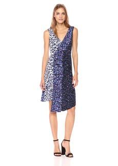RACHEL Rachel Roy Women's Mixed Printed Asymmetrical Dress  XS