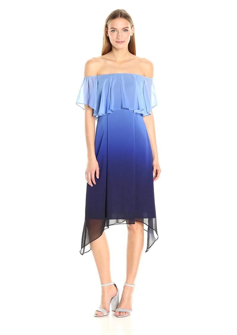 RACHEL Rachel Roy Women's Ombre Ruffle Midi Dress
