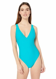 RACHEL Rachel Roy Women's One Piece Swimsuit with Strappy Back  L