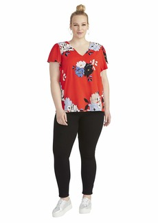 RACHEL Rachel Roy Women's Plus Size Adrina Ruffle Sleeve TOP