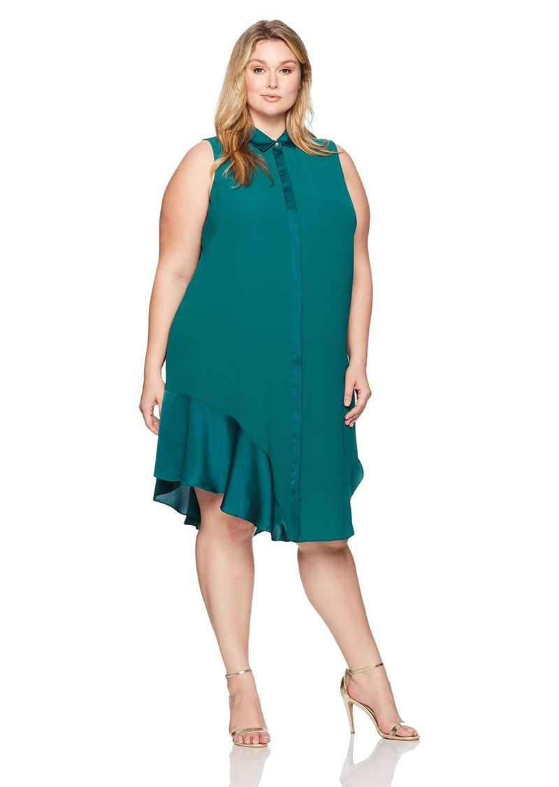RACHEL Rachel Roy Women's Plus Size Combo Shirt Dress  3X