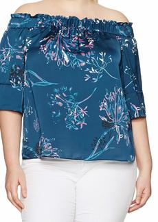 RACHEL Rachel Roy Women's Plus Size Elastic Off The Shoulder Top