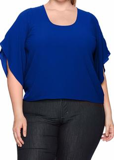 RACHEL Rachel Roy Women's Plus Size Flutter Top