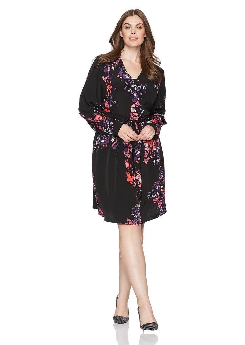 RACHEL Rachel Roy Women's Plus Size Front Wrap Dress