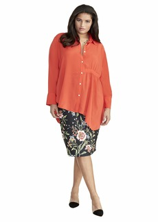 RACHEL Rachel Roy Women's Plus Size High Low Shirt