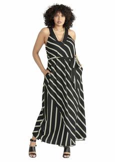 RACHEL Rachel Roy Women's Plus Size Jacey Stripe Racer Maxi Dress