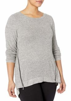 RACHEL Rachel Roy Women's Plus Size Long Sleeve Zip Front