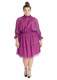RACHEL Rachel Roy Women's Plus Size Lucky Leopard Dress