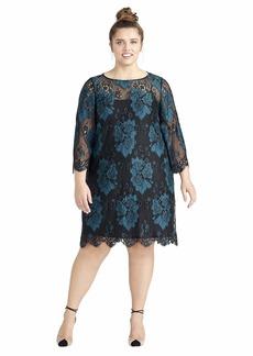 RACHEL Rachel Roy Women's Plus Size Madeline Dress Deep Emerald sea 20W