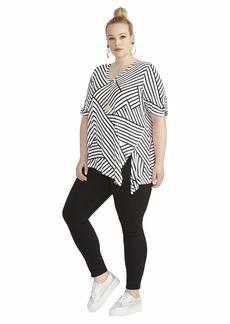 RACHEL Rachel Roy Women's Plus Size Marita Asymmetric TEE