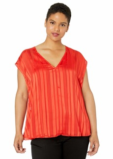 RACHEL Rachel Roy Women's Plus Size May Cape Top